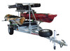 MegaSport 2-4 Kayak Trlr Pkg (Spare Tire, 2nd Tier, 2 Sets Saddle Ups, Basket & Drawer,2 Rod tubes, Milk Crate Cage) (MPG550-AU)