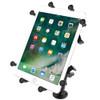 RAM Mount X-Grip III Large Tablet Holder w\/ Long Flat Surface Mount [RAM-B-101-C-UN9U]