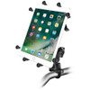"RAM Mount Handlebar Rail Mount w\/Zinc Coated U-Bolt Base  Universal X-Grip Cradle for 10"" Large Tablets [RAM-B-149Z-UN9U]"