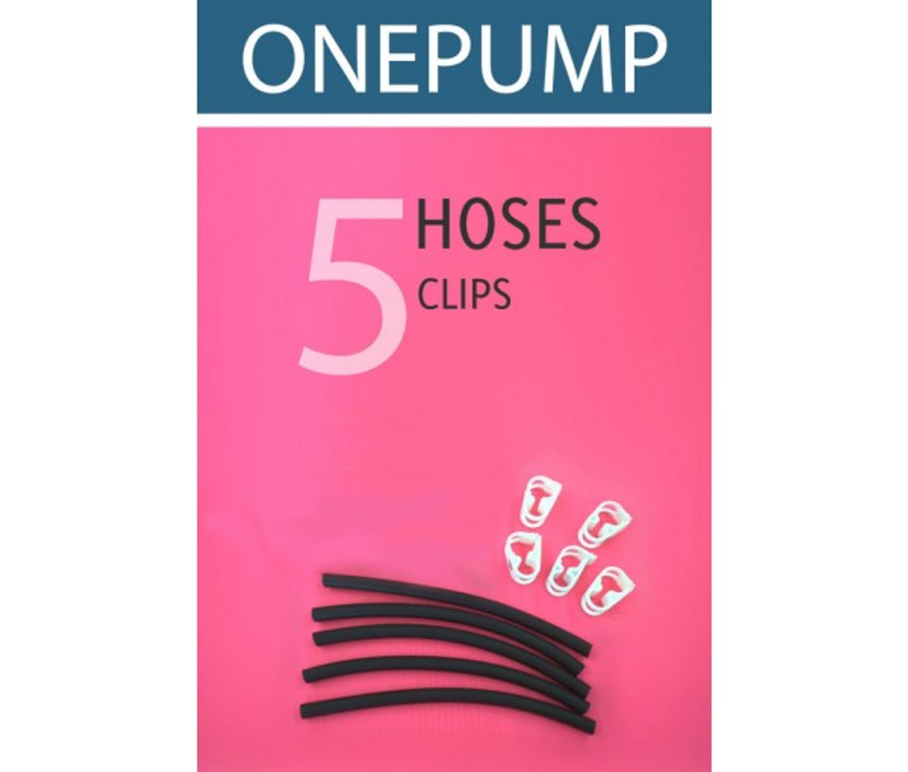 5pc Replacement Hoses and Clips