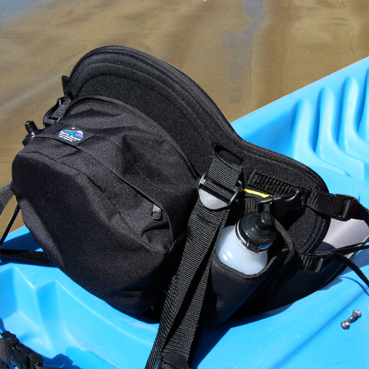 GTS Expedition Molded Foam Kayak Seat – Water Bottle Pack