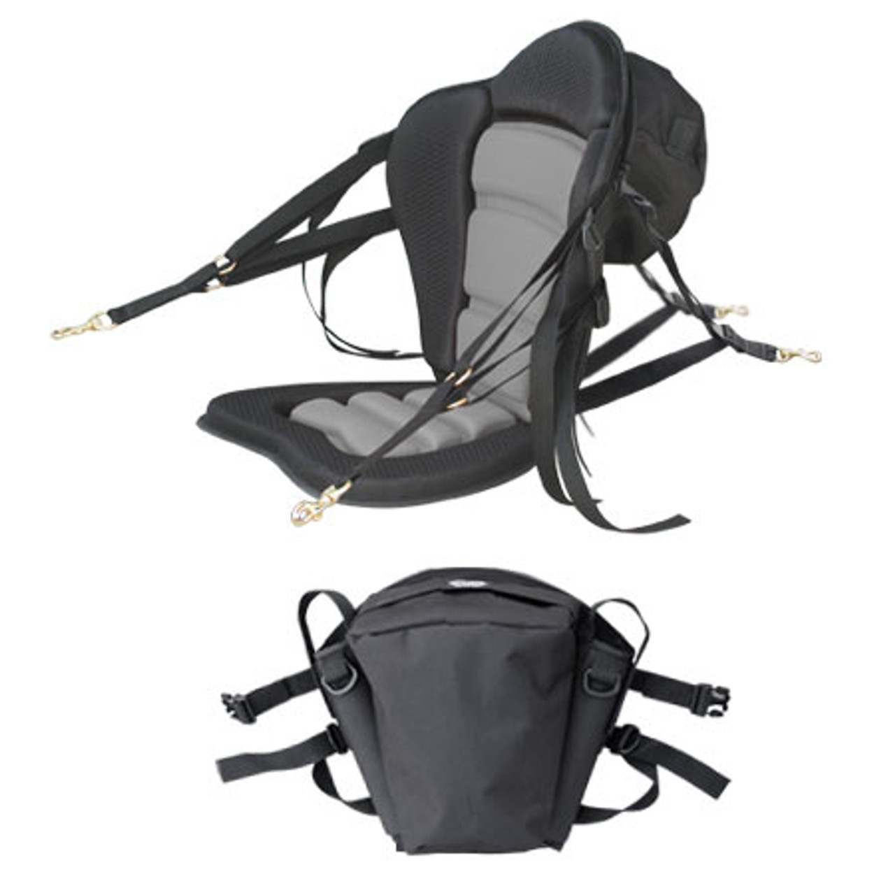 GTS Elite Molded Foam Kayak Seat - Fishing Pack