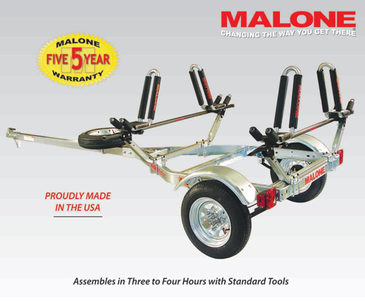 Microsport trailer two kayak package  MPG461G2