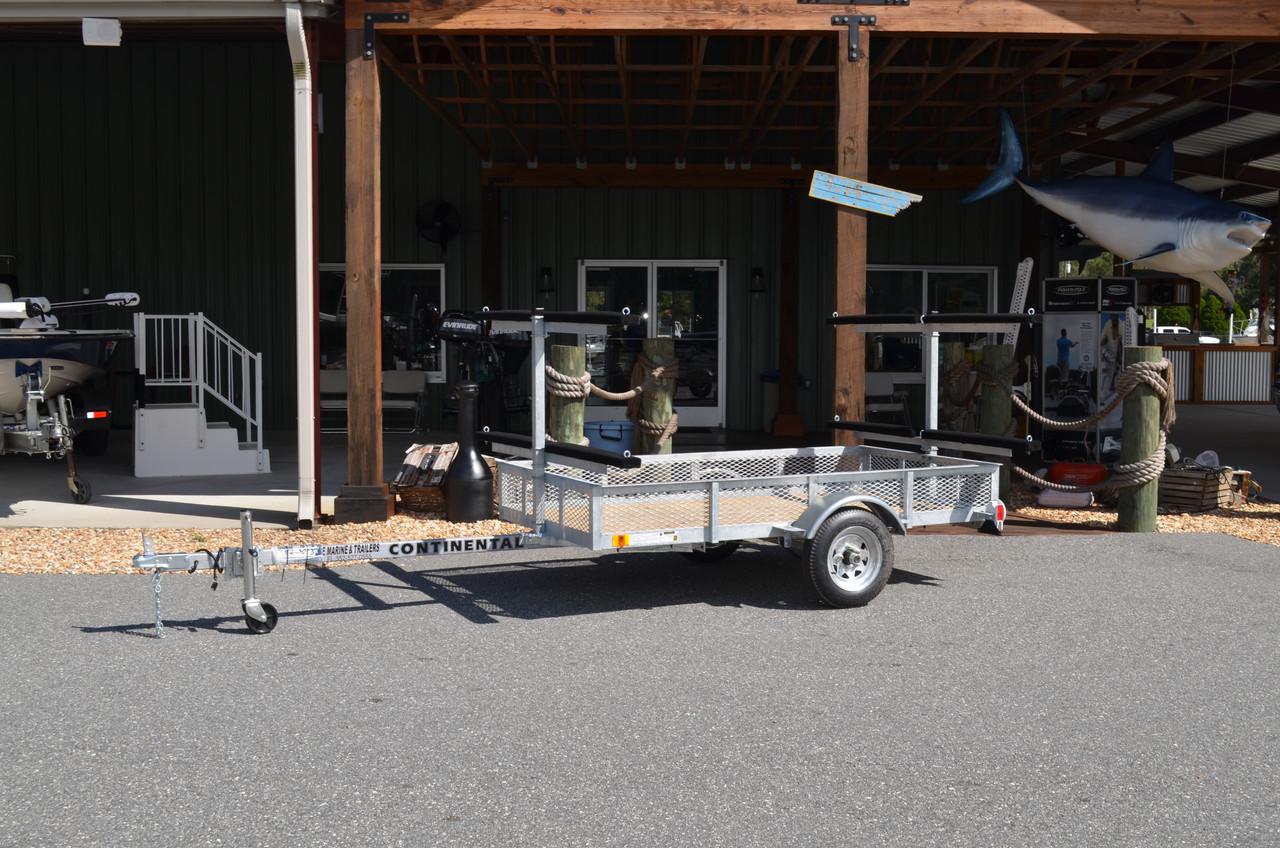 4 boat kayak trailer with basket