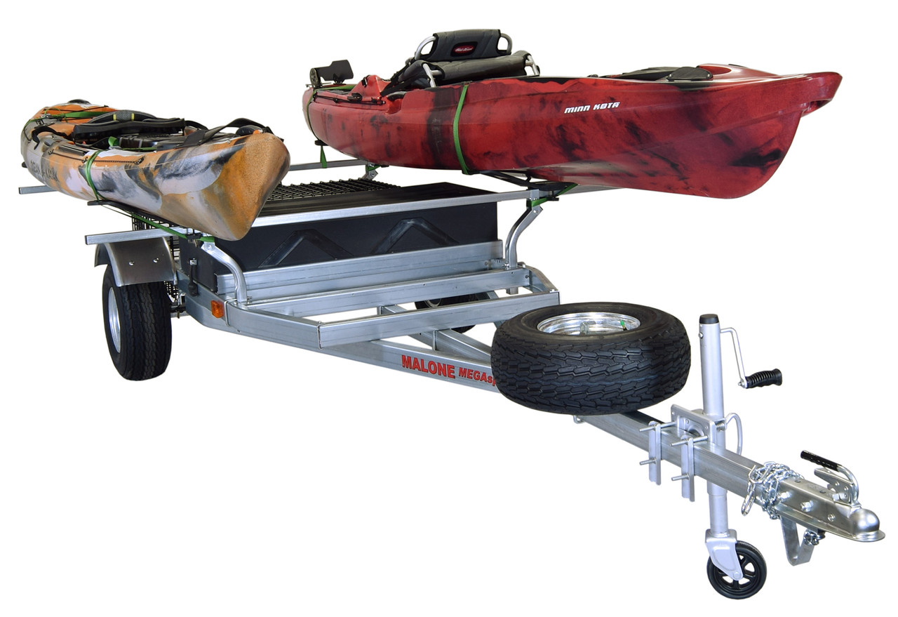 MegaSport 2 Kayak Trailer Pkg (Spare Tire, 2 Sets MegaWings, Storage Basket & Drawer) (MPG550-M)