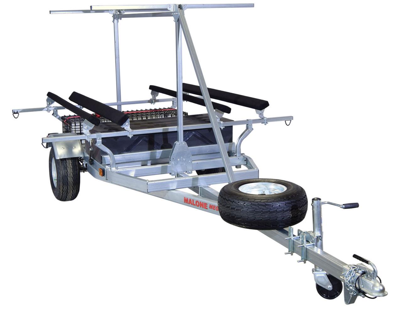 MegaSport 2-4 Kayak Trailer Pkg (Spare Tire, 2nd Tier, 2 Sets Bunks, Storage Basket & Drawer) (MPG550-TH)
