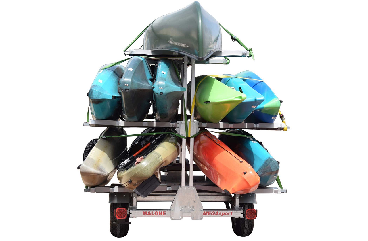 MegaSport Outfitter 3 Tier Trailer w/SpareTire (up to 12 kayak capacity) (MPG550-O)