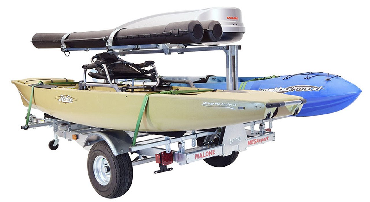Mega LowBed Trlr w/Tier, Spare, 2 sets Bunks, Cargo Box, 2 Rod Tubes (MPG550-LBB)
