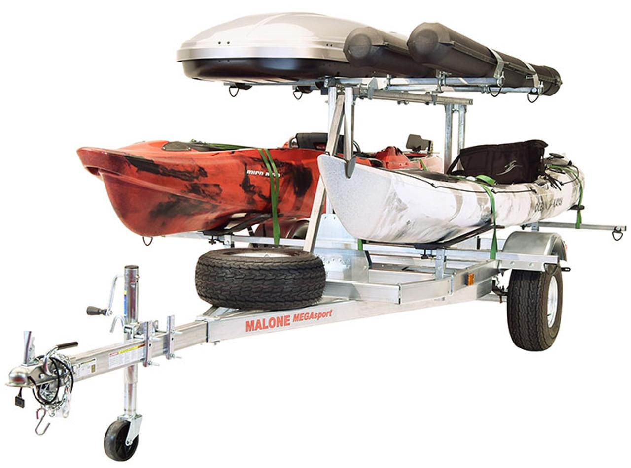 Mega LowBed Trlr w/Tier, Spare, 2 sets MegaWings, Cargo Box, 2 Rod Tubes (MPG550-LBM)