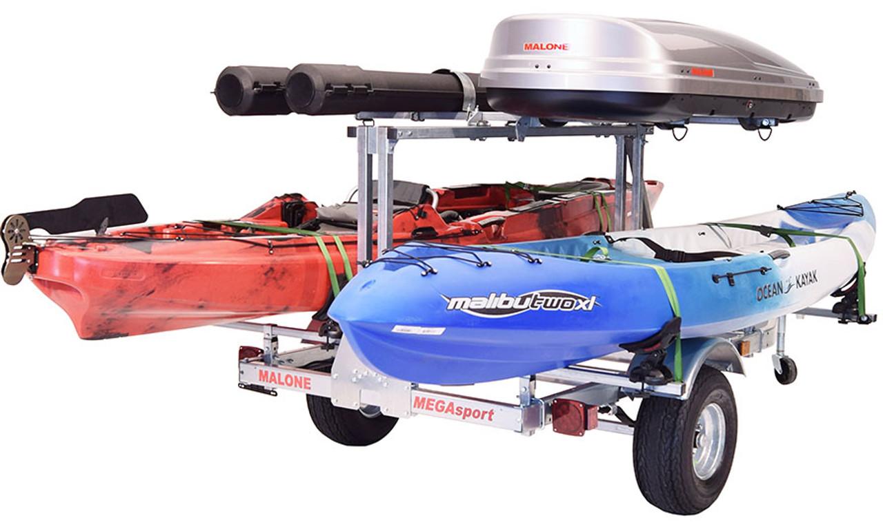 Mega LowBed Trlr w/Tier, Spare, 2 sets Saddle Up, Cargo Box, 2 Rod Tubes (MPG550-LBS)