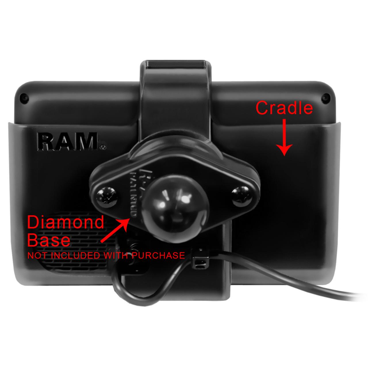 RAM Mount Cradle f\/Garmin dezl Series [RAM-HOL-GA43U]