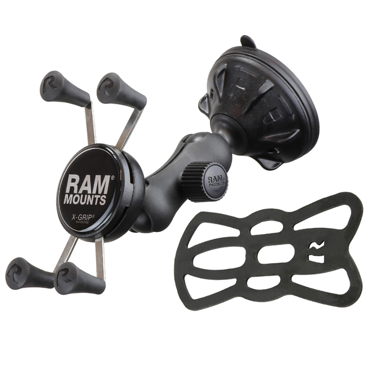 RAM Mount X-Grip Composite Twist Lock Suction Cup Mount [RAP-B-166-2-UN7U]