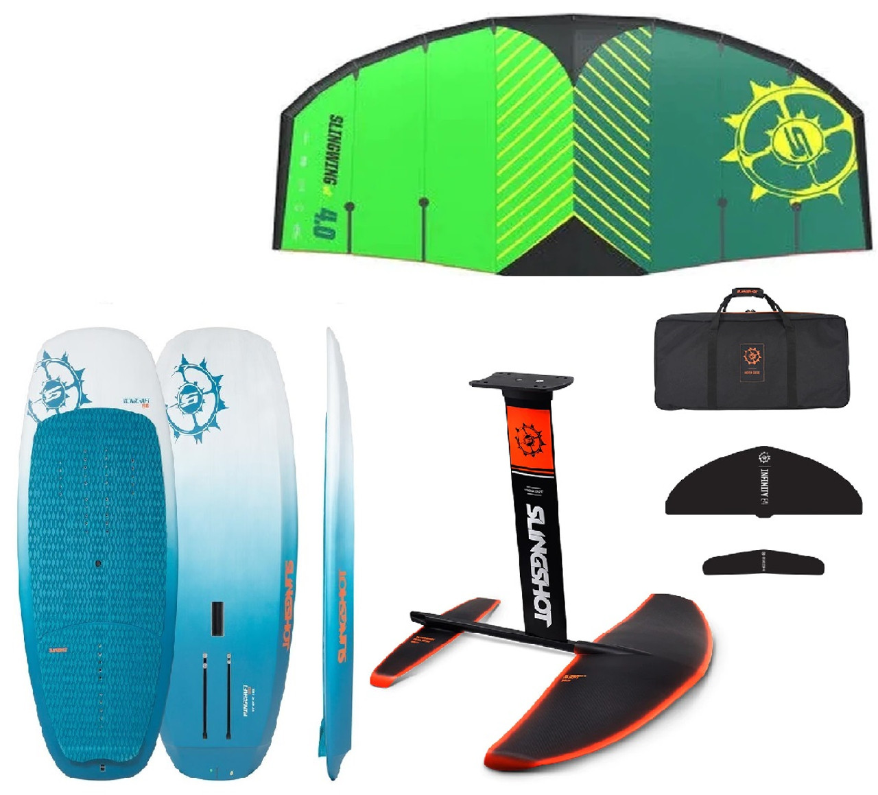 2020 Slingshot Wing Craft 90L  + SlingWing V2 +  FWing 99cm Foil    -  Ready To Fly - Package
