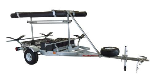 MegaSport 2-4 Kayak Trlr Pkg (Spare Tire, 2nd Tier, 2 Sets MegaWings, Basket & Drawer,2 Rod tubes, Milk Crate Cage) (MPG550-AM)