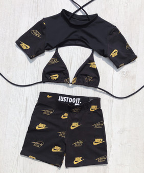 Reworked 3 piece set - Nike Black/gold