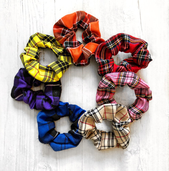 Check Me Out! Tartan scrunchie