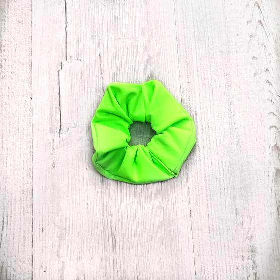 NEON GREEN scrunchie