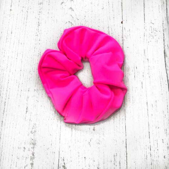 NEON PINK scrunchie