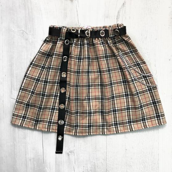 REWORKED CMO - Flared Mini skirt