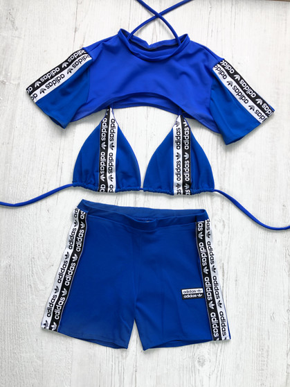 Custom reworked 3 piece set - Tape BLUE