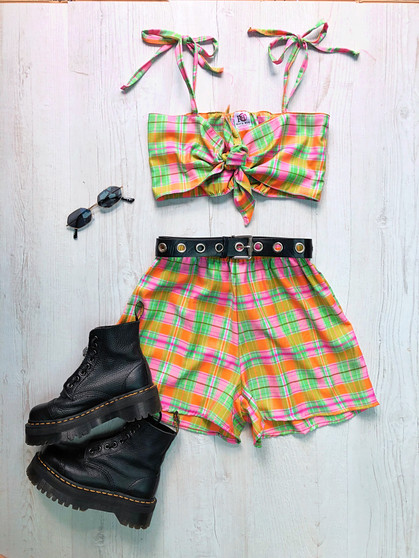 House Party edit - 2piece shorts & knot front tie top