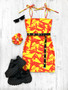 *NEW* SHERBET FIZZ tube mini dress