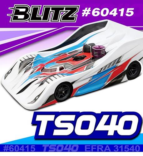 BLITZ 1/8 On Road Racing Body TS040 (0.8mm)