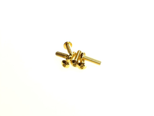 Hiro Seiko Alloy Hex Socket Button Head Screw [Gold]