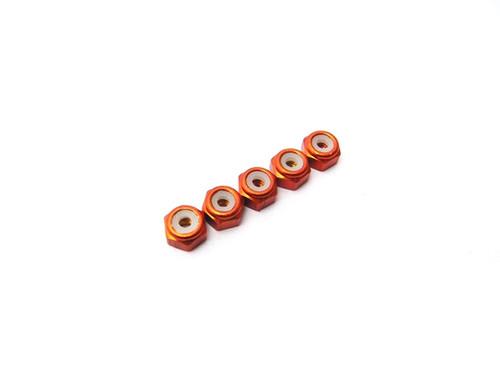 Hiro Seiko 2mm Alloy Nylon Nut [Orange]