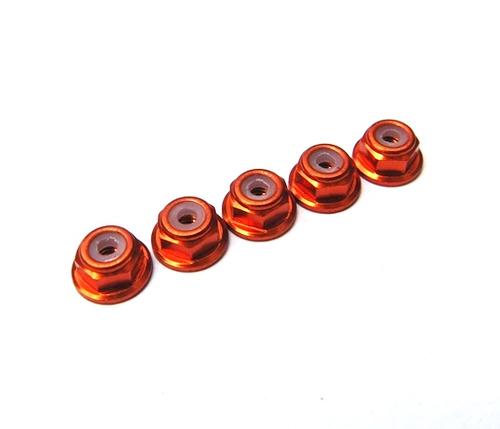 Hiro Seiko 2mm Alloy Flange Nylon Nut [Orange]