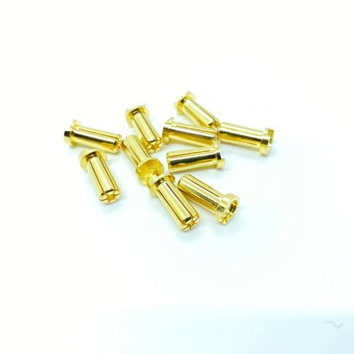 Maclan Max Current 5mm Low Profile Gold Bullet Connectors (10pcs)