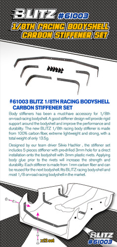 Blitz 1/8th Racing Bodyshell Carbon Stiffener