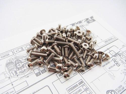 Hiro Seiko T4'21 Titanium Hex Socket Screw Set (108pcs)