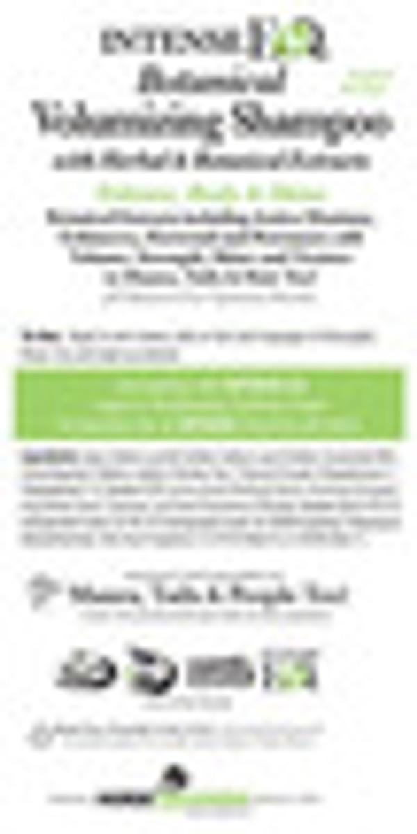 IntenseEQ Botanical Volume Shampoo Back Label
