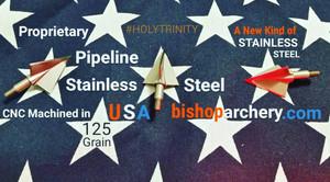 BACK IN STOCK!!!  125 GRAIN NON-VENTED PROPRIETARY PIPELINE SR STAINLESS STEEL #HOLYTRINITY