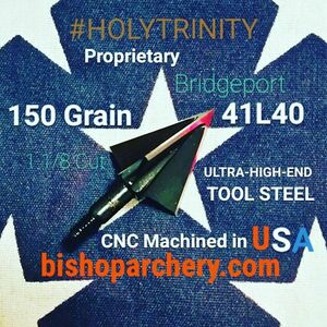 ONE TEST HEAD - 150 GRAIN NON-VENTED PROPRIETARY BRIDGEPORT 41L40 TOOL STEEL #HOLYTRINITY