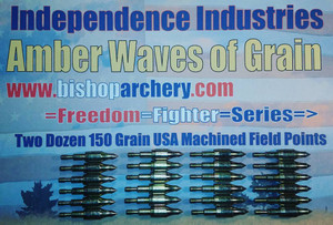 BACK IN STOCK!!!  TWO DOZEN 150 GRAIN MACHINED FIELD POINTS
