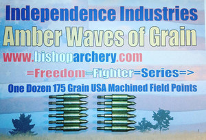 ONE DOZEN 175 GRAIN MACHINED FIELD POINTS