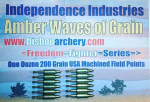 BACK IN STOCK!!! ONE DOZEN 200 GRAIN MACHINED FIELD POINTS