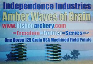 ONE DOZEN 125 GRAIN MACHINED FIELD POINTS