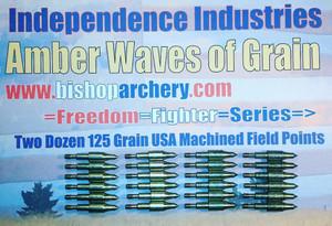TWO DOZEN 125 GRAIN MACHINED FIELD POINTS