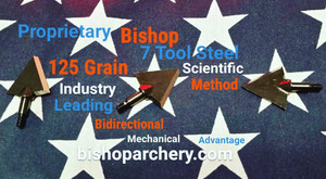 125 GRAIN BISHOP S7 TOOL STEEL SCIENTIFIC METHOD