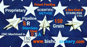 BACK IN STOCK!!! 150 GRAIN PROPRIETARY PIPELINE SR STAINLESS STEEL SCIENTIFIC METHOD