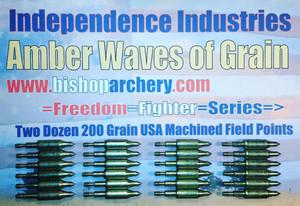 BACK IN STOCK!!!  TWO DOZEN 200 GRAIN MACHINED FIELD POINTS