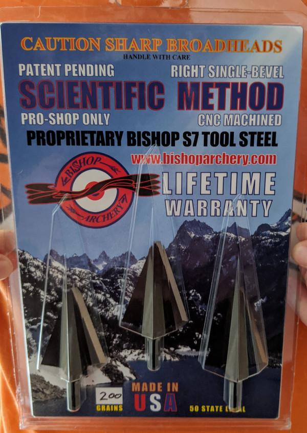 BACK IN STOCK!!!  200 GRAIN PROPRIETARY BISHOP S7 TOOL STEEL SCIENTIFIC METHOD