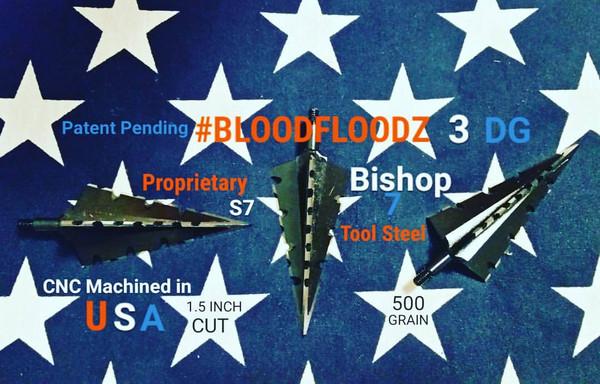 BACK IN STOCK!!! 500 GRAIN PROPRIETARY BISHOP S7 TOOL STEEL 1.5 INCH CUT #BLOODFLOODZ 3 DG