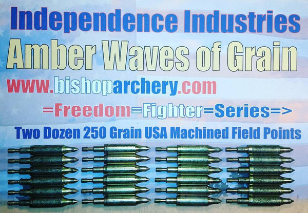 BACK IN STOCK!!!  TWO DOZEN 250 GRAIN MACHINED FIELD POINTS
