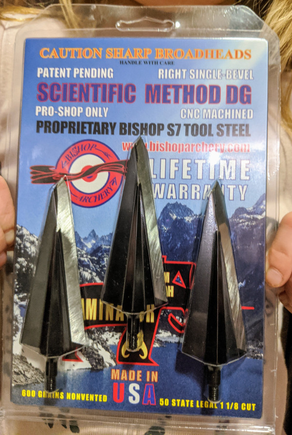 BACK IN STOCK!!!  600 GRAIN PROPRIETARY BISHOP S7 TOOL STEEL SCIENTIFIC METHOD DG