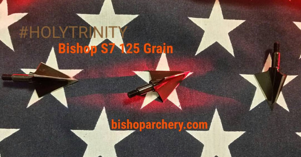 BISHOP 125 GRAIN NON-VENTED #HOLYTRINITY THREE PACK