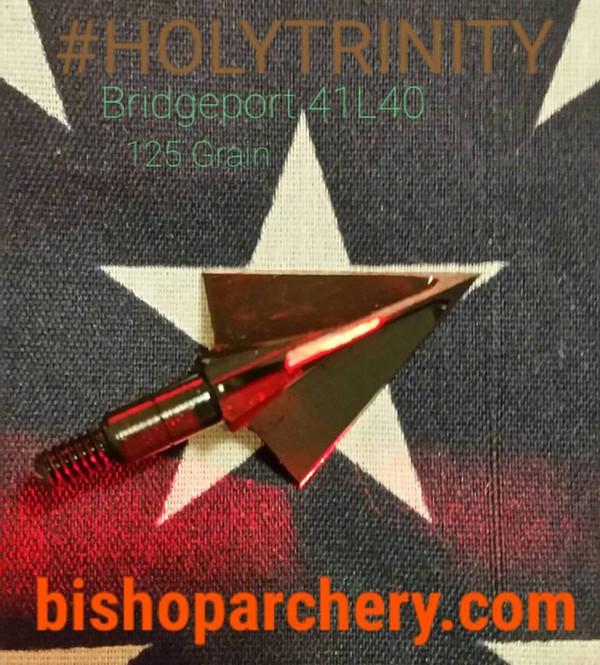 ONE TEST HEAD - 125 GRAIN NONVENTED BRIDGEPORT 41L40 TOOL STEEL HOLYTRINITY